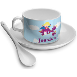 Girl Flying on a Dragon Tea Cup - Single (Personalized)