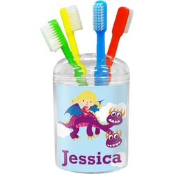Girl Flying on a Dragon Toothbrush Holder (Personalized)