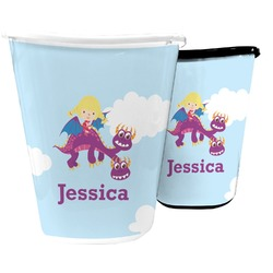 Girl Flying on a Dragon Waste Basket (Personalized)