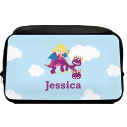 Girl Flying on a Dragon Toiletry Bag / Dopp Kit (Personalized)