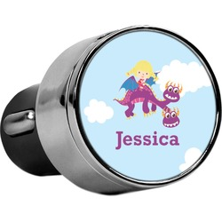 Girl Flying on a Dragon USB Car Charger (Personalized)