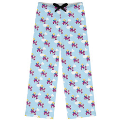 Girl Flying on a Dragon Womens Pajama Pants (Personalized)