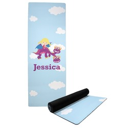 Girl Flying on a Dragon Yoga Mat (Personalized)