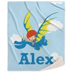 Flying a Dragon Sherpa Throw Blanket (Personalized)