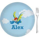 """Flying a Dragon Glass Appetizer / Dessert Plates 8"""" - Single or Set (Personalized)"""