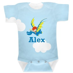 Flying a Dragon Baby Bodysuit (Personalized)