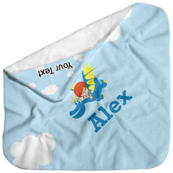 Flying a Dragon Baby Hooded Towel (Personalized)