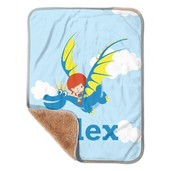 Flying a Dragon Sherpa Baby Blanket 30