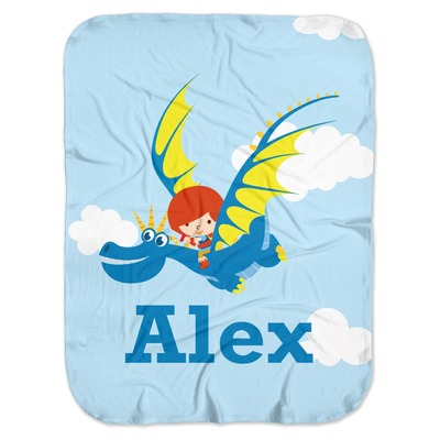 Flying a Dragon Baby Swaddling Blanket (Personalized)