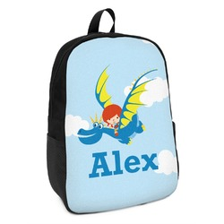 Flying a Dragon Kids Backpack (Personalized)