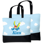 Flying a Dragon Beach Tote Bag (Personalized)