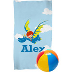 Flying a Dragon Beach Towel (Personalized)