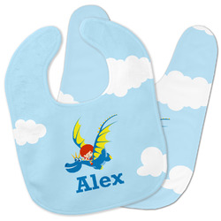 Flying a Dragon Baby Bib w/ Name or Text