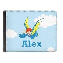 Flying a Dragon Genuine Leather Men's Bi-fold Wallet (Personalized)