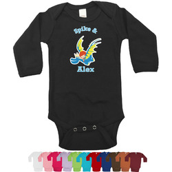 Flying a Dragon Long Sleeves Bodysuit - 12 Colors (Personalized)