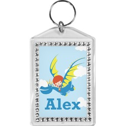 Flying a Dragon Bling Keychain (Personalized)