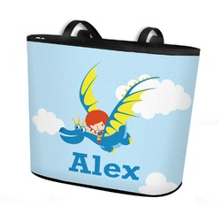 Flying a Dragon Bucket Tote w/ Genuine Leather Trim (Personalized)