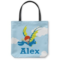 Flying a Dragon Canvas Tote Bag (Personalized)