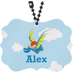 Flying a Dragon Rear View Mirror Charm (Personalized)