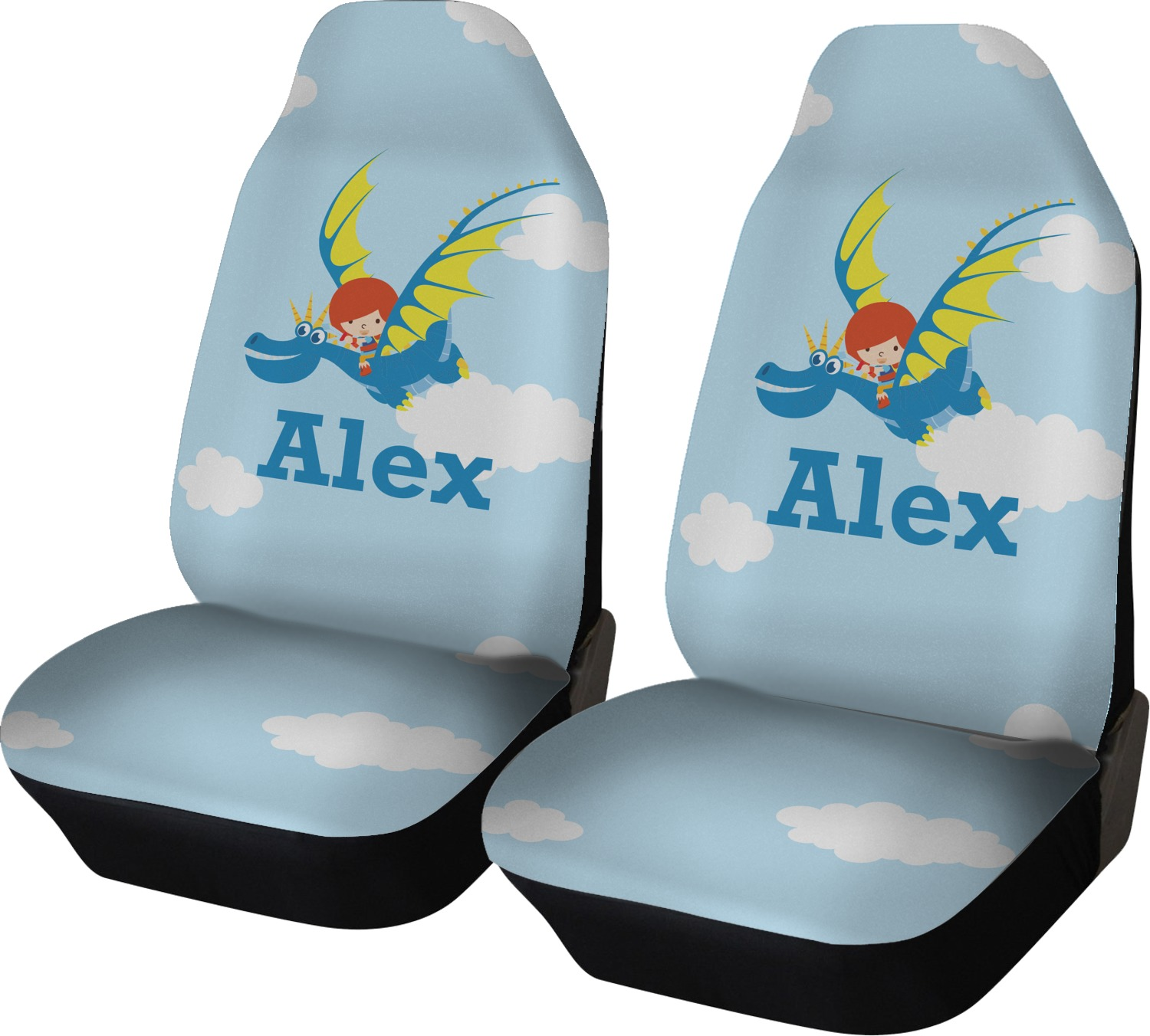 Flying A Dragon Car Seat Covers Set Of Two Personalized