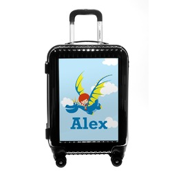 Flying a Dragon Carry On Hard Shell Suitcase (Personalized)