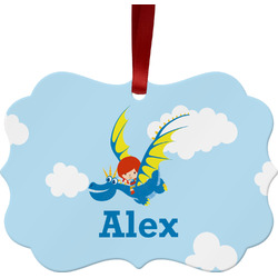Flying a Dragon Ornament (Personalized)