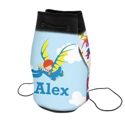 Flying a Dragon Neoprene Drawstring Backpack (Personalized)