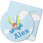 Flying a Dragon Rubber Backed Coaster (Personalized)