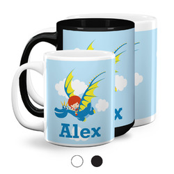 Flying a Dragon Coffee Mugs (Personalized)