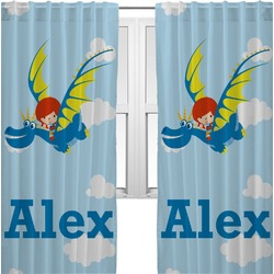 Flying a Dragon Curtains (2 Panels Per Set) (Personalized)