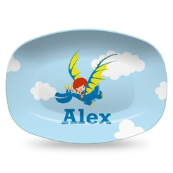 Flying a Dragon Plastic Platter - Microwave & Oven Safe Composite Polymer (Personalized)