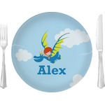 """Flying a Dragon Glass Lunch / Dinner Plates 10"""" - Single or Set (Personalized)"""