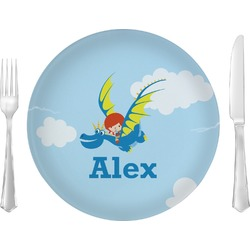 """Flying a Dragon 10"""" Glass Lunch / Dinner Plates - Single or Set (Personalized)"""