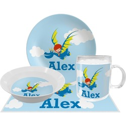 Flying a Dragon Dinner Set - 4 Pc (Personalized)
