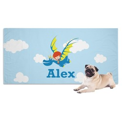 Flying a Dragon Dog Towel (Personalized)