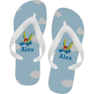 Flying a Dragon Flip Flops (Personalized)
