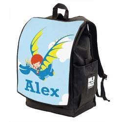 Flying a Dragon Backpack w/ Front Flap  (Personalized)