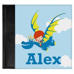 Flying a Dragon Genuine Leather Baby Memory Book (Personalized)