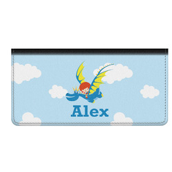 Flying a Dragon Genuine Leather Checkbook Cover (Personalized)