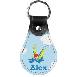 Flying a Dragon Genuine Leather  Keychains (Personalized)