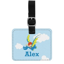 Flying a Dragon Genuine Leather Rectangular  Luggage Tag (Personalized)