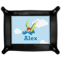 Flying a Dragon Genuine Leather Valet Tray (Personalized)
