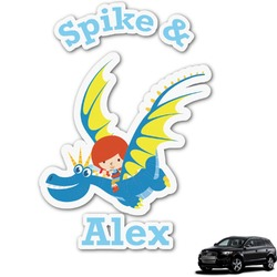 Flying a Dragon Graphic Car Decal (Personalized)