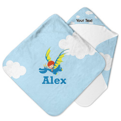Flying a Dragon Hooded Baby Towel (Personalized)