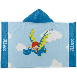 Flying a Dragon Kids Hooded Towel (Personalized)