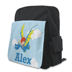 Flying a Dragon Preschool Backpack (Personalized)