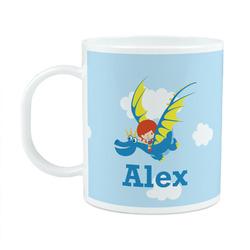 Flying a Dragon Plastic Kids Mug (Personalized)