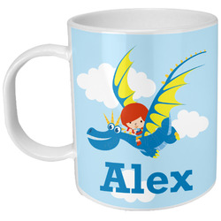 Flying a Dragon Plastic Kids Mug (Personalized)