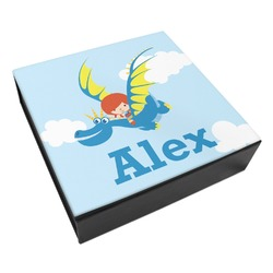 Flying a Dragon Leatherette Keepsake Box - 3 Sizes (Personalized)