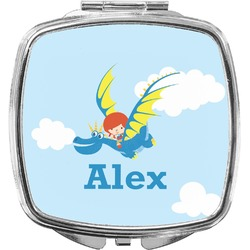 Flying a Dragon Compact Makeup Mirror (Personalized)